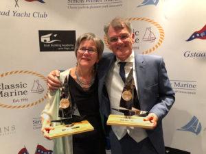 Ontvangst Ventis twee Classic Boat Awards in London