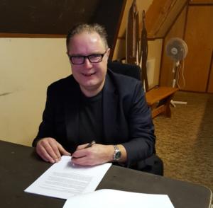 Ron Bulters ondertekening Pop-Eye
